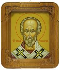 Николай Чудотворец, икона в киоте