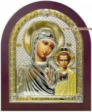 Казанская икона в серебре