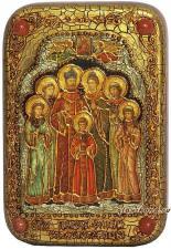 Царственные страстотерпцы икона подарочная 10х15 см