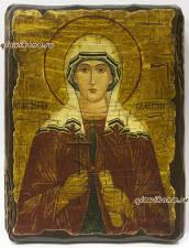 Святая Валентина - икона под старину