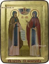Икона Петр и Феврония в подарочной упаковке