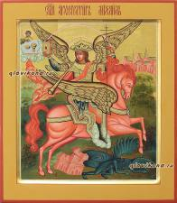 Рукописная икона архангела Михаила, артикул 6043