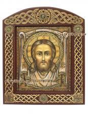 икона Спасителя Нерукотворного на бересте