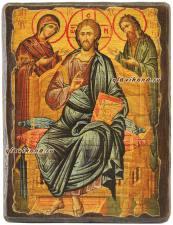 Деисус, икона под старину