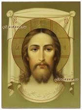Рукописная икона Спаса Нерукотворного