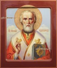 Икона Николая Чудотворца живописная, артикул 6115