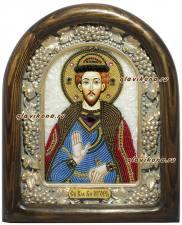 Игорь князь Черниговский, икона из бисера