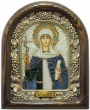 Святая Нина, икона из бисера