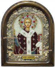 Никита Новгородский, икона из бисера