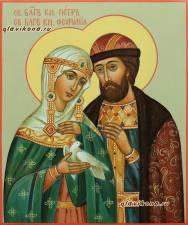 Икона Петра и Февронии 17х21 см