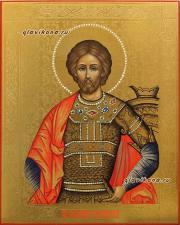 икона с чеканкой Александра Невского