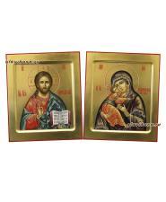 Венчальная пара на золоте с ковчегом, артикул 338
