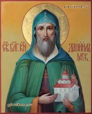 Даниил Московский, рукописная икон артикул 6025