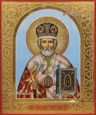 Николай Чудотворец, икона писаная артикул 6154