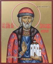 Икона писаная святого Ярослава Мудрого, артикул 589