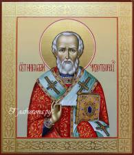 рукописная икона Николая Чудотворца, артикул 578