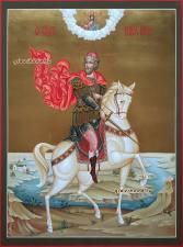 Юрий Всеволодович, рукописная икона артикул 6244