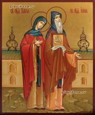 Святые Васса и Иона, рукописная икона артикул 443