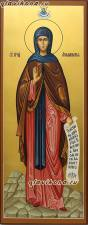 Аполлинария Египетская - мерная икона, написанная на деревянной доске