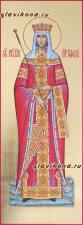 Равноапостольная Елена, мерная икона с золочением