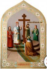 Воздвижение Креста Господня, писанная маслом икона артикул 428
