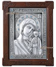 Казанская Божия Матерь, серебряная икона артикул 11180