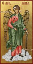 Писаная икона Ангела Хранителя на золотом фоне, артикул 707