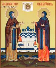 Князь и княгиня Петр и Феврония Муроские, писаная икона, артикул 808