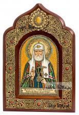 Тихон Белавин, патриарх Московский, писаная икона из бересты