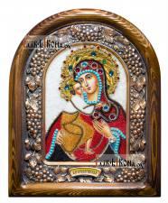 """Божия Матерь """"Феодоровская"""" икона из бисера артикул ДВ71102"""