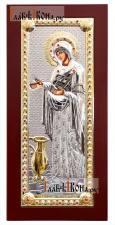 Геронтисса Божия Матерь, икона в посеребренном окладе