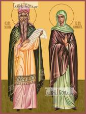 Захария и Елисавета, икона печатная, артикул 90345