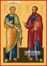 Петр и Павел апостолы (ростовые), икона печатная, артикул 90359