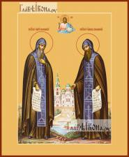 Сергий и Герман Валаамские преподобные, икона печатная, артикул 90370