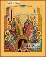 Сошествие Святого Духа, икона печатная, артикул 90382