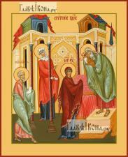 Сретение Господне, икона печатная, артикул 90384