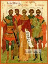 Севастийские пяточисленные мученики, икона печатная, артикул 90368