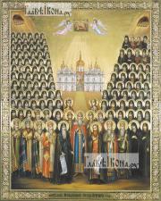 Собор Печерских святых, икона печатная, артикул 90374