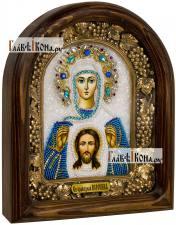 Вероника Кровоточивая, праведная, дивеевская икона из бисера
