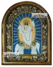 Воскресение Христово, дивеевская икона из бисера