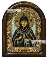 Александра преподобная, дивеевская икона из бисера