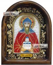 Даниил Московский (красные одежды), дивеевская икона из бисера
