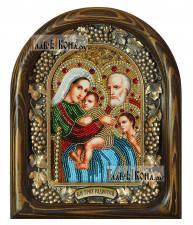 Трех Радостей Пресвятая Богородица, дивеевская икона из бисера