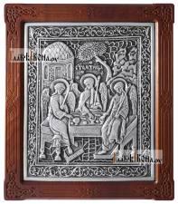 Серебряная икона Троицы, копия с кионы 17-го века