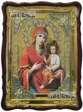 """Божия Матерь """"Скоропослушница"""", храмовая икона 60х80 см с фигурной рамкой"""