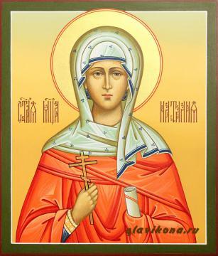 Рукописная икона мученицы Натальи, артикул 560