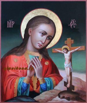 Ахтырская Божия Матерь, рукописная икона артикул 5338
