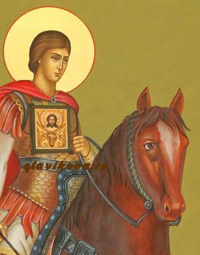 Дтали лика иконы Евстафия, артикул 573