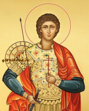 Георгий Победоносец - лик святого, икона артикул 132