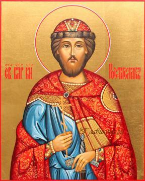Святой князь Ростислав, писаная икона артикул 588